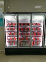 Стеклянные двери вертикальные глубокую дисплей коммерческих холодильник морозильник в супермаркет