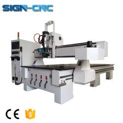 Router di scultura di legno di CNC della duplicatrice di disegno del portello Multi-Usato asse di rotazione di Atc