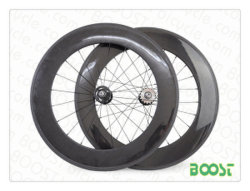 Boostbicycle High Tg Text 88mm Track Bike Carbon Wheels Fixed Gear Carbon Fiber Tubular Bicycle Wheelsets