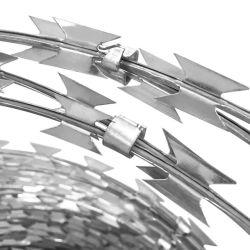 Draht-Konzertina-Draht des Umkreis-Sperre galvanisierter Stachelrasiermesser-Bto-22