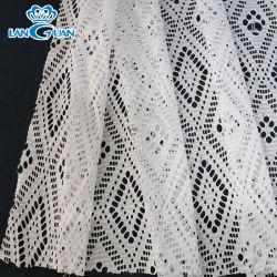 Tissu polyester blanc en vogue de la Dentelle de Textiles Accessoires du vêtement