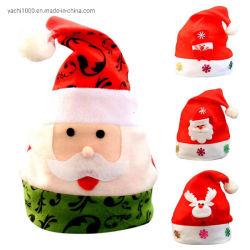 De Volwassen Jonge geitjes van de Hoeden van Kerstmis van het Patroon van de Sneeuwman van de Kerstman voor de Decoratie van de Partij van Kerstmis