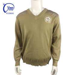 L'Armée militaire kaki Pull Pull avec de la laine de qualité supérieure