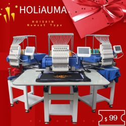 中国Holiaumaの15針は但馬をコンピュータ化した8の1ヘッドTシャツの刺繍を' 650*450 mm Embroideey領域のためのLCDのタッチ画面使用した