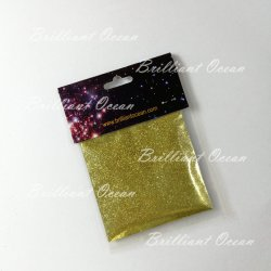10g/paquete color dorado brillante Nail Art polvo de purpurina