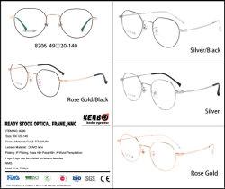 2019 Prêts, pas de lunettes de stock MOQ, Spectacle Châssis avec placage Beta-Titanium, IP, de haute qualité