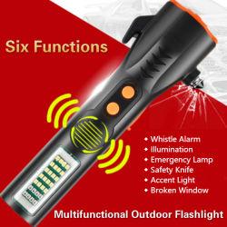 مصباح LED الوامض القابل للتكبير/التصغير القابل للتكبير/التصغير، مصباح قابل لإعادة الشحن التكتيكي الكهربائي، Baton، صدمة الشرطة، مصباح الوميض العسكري للدفاع الذاتي