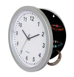 """10"""" Round Silver case Masqué Horloge murale à quartz en plastique"""