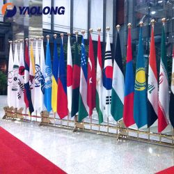 Piscina Professional Pavilhão Suporte Office ornamento brilhante Flagpole cerimonial dedicada a Exibição de Hardware para venda