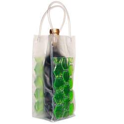 Transparente PVC Kunststoff Outdoor Strand Wein Eiskühler Tasche