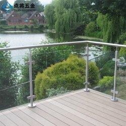 Декоративные предохранительный поручень из нержавеющей стали стеклянные стены на балкон