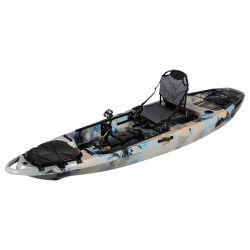 Une personne d'Aviron Kayak en plastique de bateau de pêche avec la pédale OEM