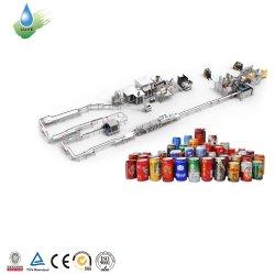 Refrescos con gas automático de llenado de cerveza de la limitación de línea de producción/lata de aluminio de relleno y/Seamer Bebidas Máquina de envasado y llenado de líquido