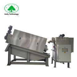 Activé presse à vis de déshydratation des boues pour les eaux usées de la machine