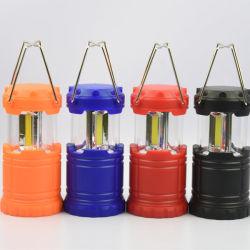 Amazon Hot Sale Petit plastique 3W 180 Lumens lampe LED tente de rafles lanterne de Camping