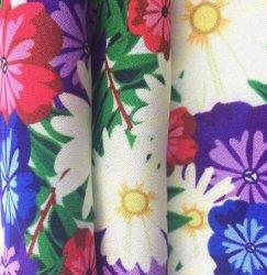 50D Digital imprimé floral de la soie 100% polyester Tissu en mousseline de satin