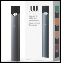 전자 담배 깍지 펜 기화기 닫히는 깍지 Mod 시스템 Juul 시동기 장비 Buttonless E Cig 220mAh 깍지 Mod 시동기 장비