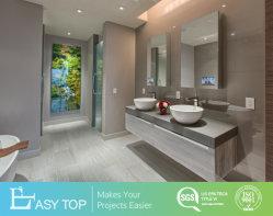 Casa de banho em forma de L armário de parede Banho Pronto vaidade define para o moderno Hotel