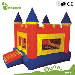 Aufblasbare Prahler-Spielwaren Commercail kundenspezifische Unterhaltungs-federnd Schloss-Plättchen-Tunnel-Hindernis für Kinder Dlib014