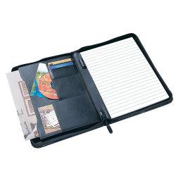 A4 de fermeture à glissière Dossier cuir synthétique Organisateur de conférences