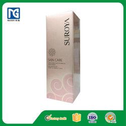 Рельефным логотипом засуньте конец красотой упаковки косметической упаковки бумаги .