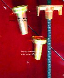 Acessórios de Sistema do Tirante de descofragem Cone de aço e a Porca Borboleta Com Flanges