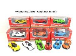 Última puxar carros Acção 1/50 Scale Die-Cast Toy Car