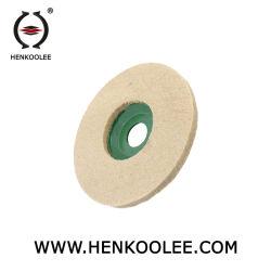 Het Harde Oppoetsende Wol Gevoelde Wiel van uitstekende kwaliteit van het Glas 100%Wool