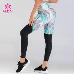 Reciclar personalizado Polyester Spandex Impresión Digital femenina pantalones de yoga