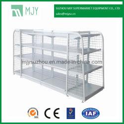 Metallsupermarkt-Draht-Rückseiten-Bildschirmanzeige-Regal