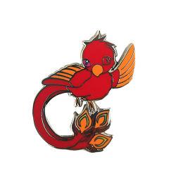 Основная часть Silver Bird красного цвета металла жесткий эмаль Brooch контакт