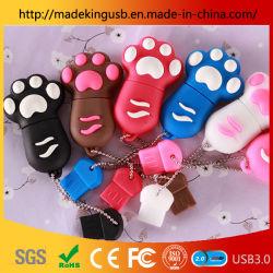 Azionamento di plastica molle dell'istantaneo del USB del disco del piede di gatto del fumetto del PVC di Dropshipping della fabbrica U