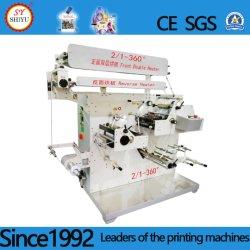 3 en color satinado de alta velocidad de la etiqueta de cinta de tejido sin tejer la impresión flexo máquina impresora flexográfica