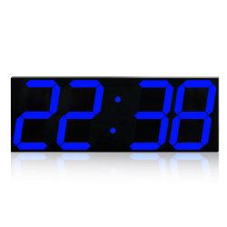 Tamaño grande Reloj de pared LED Mando a Distancia del sensor de temperatura