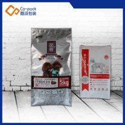 sacchetto di plastica dell'imballaggio personalizzato 5kg/2.5kg per il pacchetto dell'alimento per animali domestici
