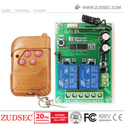 Home Security 433MHz 12V interruptor de control remoto inalámbrico RF 2 Canales de abridor de puerta