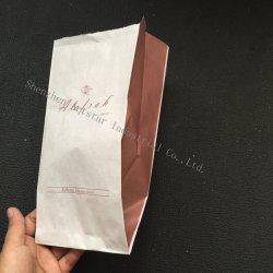 Seitliche Stützblech-Kaffee-Papiertüten mit kundenspezifischem Drucken-Firmenzeichen