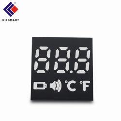 Kundenspezifische 7 Segment LED-Bildschirmanzeige verwendet für Thermometer