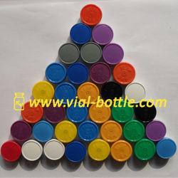 20mm brillant Flacon de sérum de couleurs multiples flip off Tops