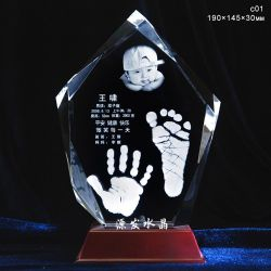 Cristal laser 3D'Iceberg de décoration de table ou des cadeaux en Chine
