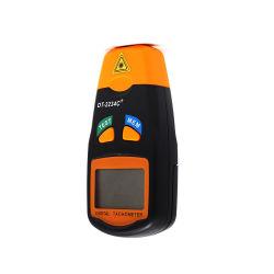 LCD digital de bolsillo Mini Non-Contact Foto Tacómetro Láser Medidor de medición de rpm el velocímetro (DT2234C+)