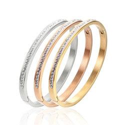 بقعة بالجملة مجوهرات بيونيت بانجل براسيليت Zircon الفولاذ المقاوم للصدأ كوف 520 زوجان بانغل