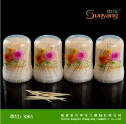 Directa de Fábrica de embalaje Caja de plástico desechables de Jar de selección de los dientes dos puntas de bambú o simples palillos de dientes, vajilla/Houseware para Hotel