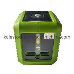 측정 도구 레이저 레벨 2 라인 수직 수평 측정 도구 녹색 빔 셀프 레벨링 레벨 레이저 니벨