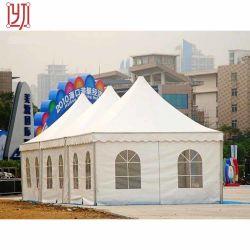 판매를 위한 두 배 유리 PVC 벽 Pagoda 큰천막 천막 고산 8X8