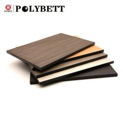 Polybett Zhongtian du grain du bois stratifié compact HPL Partition pour la Table Top toilettes