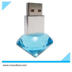 محرك أقراص محمول من نوع USB بكريستال للقلب/شكل ماسي/هدية زفاف / قرص الذاكرة /محرك قلم USB