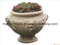Jardin de grès sculpté Pot de fleurs