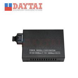 Modo único de fibra duplo 1000Mbps Conversor de mídia para 120km de distância