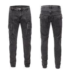 Usine de personnaliser les nouveaux ajustement élastique Jeans hommes jeans serrés de loisirs